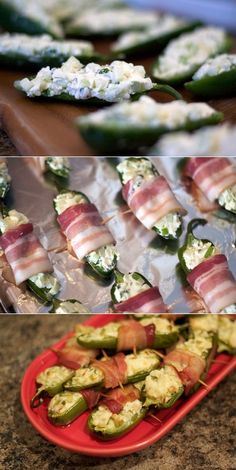 Bacon-Apple-Jalapeno Pop 'Ems Ingredients 1 package light cream cheese, at room temperature 1 large Granny Smith apple, cored and minced 3 large scallions, roots sliced off, green and whi… Appetizer Recipes, Snack Recipes, Appetizers, Healthy Recipes, Appetizer Ideas, Football Food, Light Recipes, Lunches And Dinners, Snacks