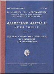 Reggiane R-2002 Aircraft Erection and Maintenance Manual,  Istruzioni per il Montaggio  e la Regolazione ( Italian Language ) ,