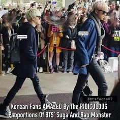 Korean Fans AMAZED By The RIDICULOUS Proportions Of BTS' #Suga And #RapMonster  In addition to being a talented rapper and dancer, BTS's Suga is also known for having incredible proportions and thin legs.  However, after seeing a recent photo of Suga and fellow Big Hit Entertainment group member Rap Monster, netizens were impressed by how well-proportioned the two singers really are. In addition to having thin legs, netizens also noted that the two still looked healthy and attractive. •They…