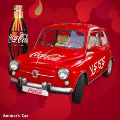 Coca-Cola Car by ammaradv on deviantART Vintage Coca Cola, Coca Cola Ad, Always Coca Cola, World Of Coca Cola, Santas Vintage, Coca Cola Christmas, Penny Candy, Soda Fountain, Sodas