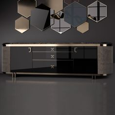 Exclusive Italian Luxury Designer Nubuck And Lacquered Buffet – Juliettes Interiors - luxury furniture living room Luxury Furniture, Home Furniture, Furniture Design, Black And Gold Marble, Tv Cabinet Design, Luxury Office, Foto Baby, Modern Luxury, Contemporary Design