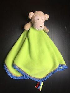 Rashti Monkey Plush Stuffed Animal Blue Green Fleece Lovey Security