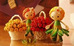 Quilled fairy miniatures