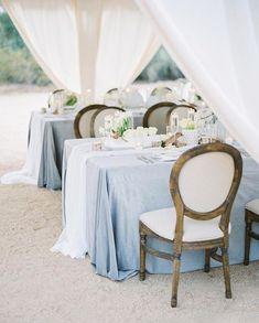 """Love the dusty blue! Blue Wedding Receptions, Blue Wedding Decorations, Romantic Wedding Decor, Wedding Colors, Wedding Events, Periwinkle Wedding, Wedding Themes, Unique Weddings, Wedding Designs"