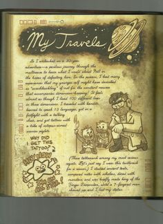 Libro Gravity Falls, Gravity Falls Book, Gravity Falls Journal, Journal 3, Journal Pages, Fallen Series, Dipper And Mabel, Cartoon Drawings, Disney
