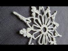 Weihnachtlich häkeln IV * Häkelstern * Crochet Snowflake [eng sub] - YouTube