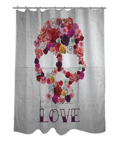 Loving this Bed of Roses Shower Curtain on #zulily! #zulilyfinds