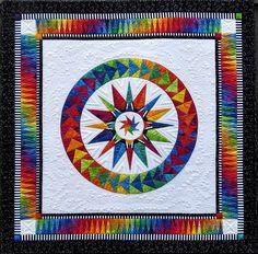 """""""Chasing Dreams"""" rainbow quilt by Jacqueline de Jonge   Be Colourful"""