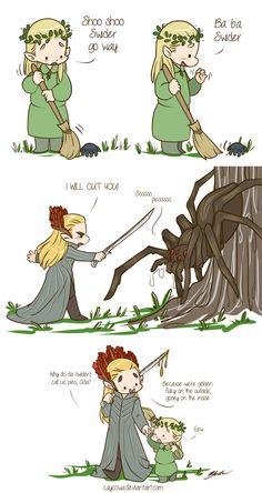 Thranduil and little Legolas | Tales of Mirkwood - Spiders