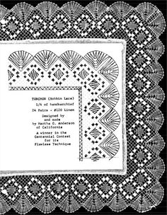 camariñas  bolillos | ... Encajeras de Bolillos Ibn al Baytar: PATRÓN PARA ENCAJE DE BOLILLOS