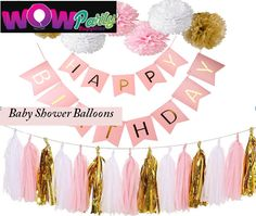 Choose from our wide range of baby shower banner for your babies' special occasions. We have designs for birthdays