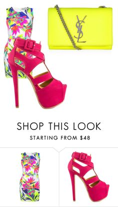 """""""Untitled #786"""" by ania18018970 ❤ liked on Polyvore featuring Shoe Republic LA and Yves Saint Laurent"""