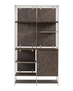 Shop Astoria Stainless Steel and Wood Bookcase from Hooker Furniture at Horchow, where you'll find new lower shipping on hundreds of home furnishings and gifts. Stainless Steel Shelving, Steel Shelving Unit, Shelving Units, Hooker Furniture, Metal Furniture, Glass Entertainment Center, Almirah Designs, Ladder Bookcase, Bookcases