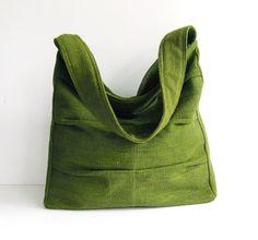 Sale - Forest Green Twisted Hemp/Cotton Bag, shoulder bag, tote, purse, handbag, unique, stylish, messenger bag - Lisa on Etsy, $35.00