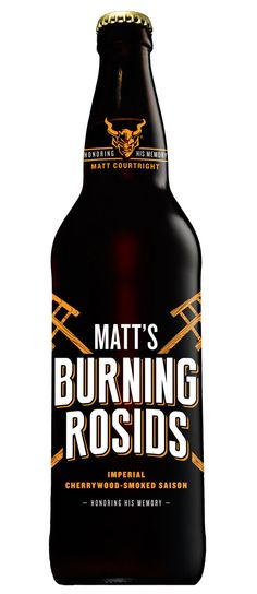 It's rare that we at Stone are lost for words, yet, in remembering our dear friend Matt Courtright, it's tough to even know where to begin. But it seems the most appropriate place is with the very special person that we miss so much.   Matt's Burning Rosids, an imperial saison brewed with cherrywood-smoked malts. #stonebrewing