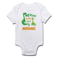 Personalized My Mimi Loves Me Body Suit on CafePress.com