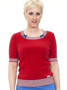 Mirabelle Strick-Top, red