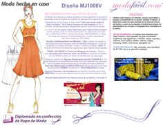Moldes de Vestido Bustier de Tirantas mj1006v