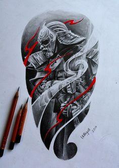 Samurai Japanese Snake Tattoo, Japanese Tattoo Designs, Japanese Sleeve Tattoos, Japan Tattoo Design, Design Tattoo, Geisha, Tattoo Manga Hombre, Tattoo Sleeve Designs, Tattoo Designs Men