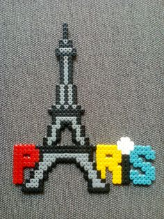 Paris Torre Eiffel Hama beads #paris #torre #eiffel #hama