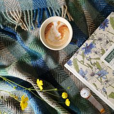 Friday! Time to wind down for the weekend with a good book and a cup of something... Do you go for coffee or tea?   Our wool throws make the perfect companion for outdoor picnics, or afternoons lounging around the house.
