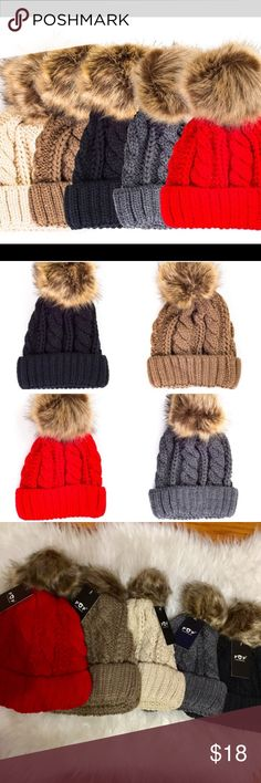 ‼️NEW ARRIVAL‼️Knit beanie Thick knit beanie!! Look stylish all while being warm. Colors available: BLACK, GRAY, BROWN, TAUPE, and RED. Last picture is of actual beanie. Amazing quality!!! ONE SIZE. Click below the color u want :-) NO TRADES. Accessories Hats