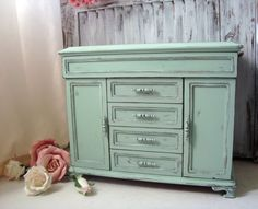 Mint Green Large Jewelry Box Pastel Green Big by WillowsEndCottage, $150.00