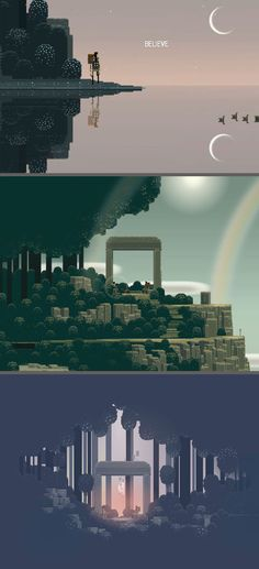 Swords and Swocery - i Phone - http://itunes.apple.com/us/app/superbrothers-sword-sworcery/id424912055?mt=8 Exceptionally beautiful and entertaining. This game has an 8 bit old school feel with a modern twist. Worth every penny.