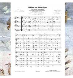 Jacob ARCADELT - Il bianco e dolce cigno - chanson de la Renaissance pour chœur à 4 voix mixtes - Editions Musiques en Flandres - Référence MeF 624