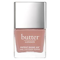 butter LONDON Patent Shine 10X Nail Lacquer 11ml - Mum's The Word (€18) ❤ liked on Polyvore featuring beauty products, nail care, nail polish, makeup, nails, glossy nail polish, formaldehyde free nail polish, butter london nail polish, butter london and butter london nail lacquer
