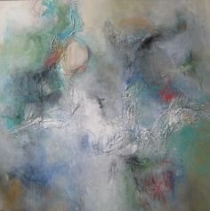 "Leeanne LaForge Mixed Media Abstract Art 40"" x 40"""