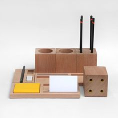 Know a lovely office worker? This is a nice little present: Kukka Block Office Set
