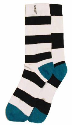 Black White Stripe Mens Casual Sock - STANCE