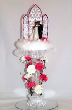 Lighted African American Wedding Cake Topper Item by MBZCreations, $33.50
