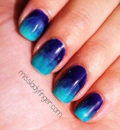dip dyed nails