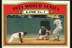 1971 World Series, Pirates Baseball, Roberto Clemente, Pittsburgh Pirates, Trading Cards, Mlb, Gifs, Baseball Cards, Sports