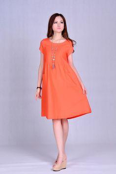 Vestido de linho ocasional curto verão, mulheres fold solto de mangas compridas temperamento de algodão vestidos feminino em Vestidos de Roupas e Acessórios no AliExpress.com | Alibaba Group