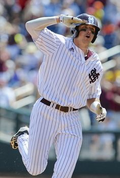 Hunter Renfroe picked right up where he left off at Mississippi State, finding early success with the San Diego Padres. Ms State University, Odyssey Online, Mississippi State Bulldogs, San Diego Padres, Babe Ruth, Auburn Tigers, Vintage Football, Celebs, Celebrities