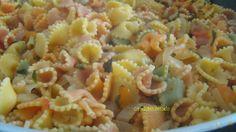 Margaridas de legumes com molho de tomate