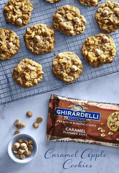 Welcome the sweet taste of fall with these Caramel Apple Cookies. These soft and chewy oatmeal cookies are packed with warm spices, dried apple and great caramel flavor. Elevate your baking with the sweetest secret - Ghirardelli's NEW Caramel flavored chips.