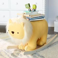 Our Lion Rocking Horse has plenty to be proud about. It features a soft mane and plush body with a sturdy wooden frame. Plus, this tame feline prefers the playroom instead of the wild.