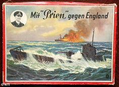 German children played with 'Bombers over England' boardgames during WWII V Games, Board Games, Nazi Propaganda, German Submarines, England, Threes Game, Vintage Games, World War Two, Kids Playing