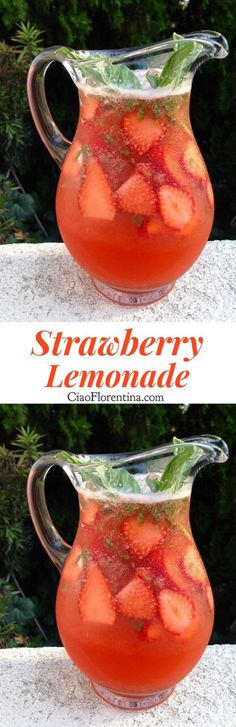Strawberry Lemonade Recipe | CiaoFlorentina.com @CiaoFlorentina