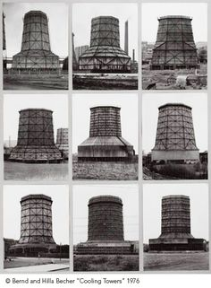 Bernd and Hilla Becher, Cooling Towers, 1976