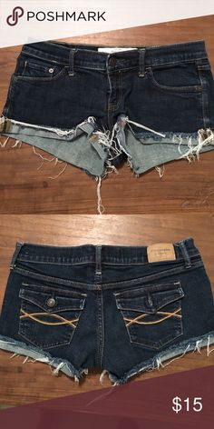 Abercrombie Shorts just average cute little shorts, only worn like 2 times? my best friend gave them to me she didn't want them so i'm not sure the original price, but they're Abercrombie so i'd guess at least 35 i don't know Abercrombie & Fitch Shorts Jean Shorts