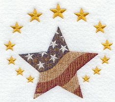 Americana Star - A cute embroidery for my 4th of July tablecloth!
