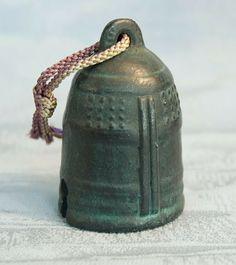 japanese buddhist bells   Vintage Ceramic Japanese Bell Buddhist Temple Suzu Japan Tokaido ...