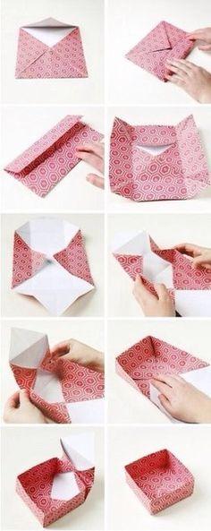 Оригами из бумаги. Коробочка