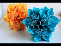 Origami flowers for beginners - How to make origami flowers very easy - YouTube