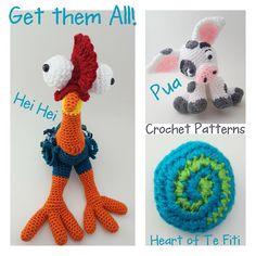 Pua Pig HeiHei Crochet Patterns